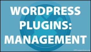 WordPress Plugins: Management