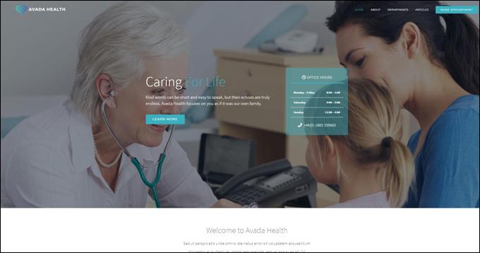 Avada Theme Demo - Health