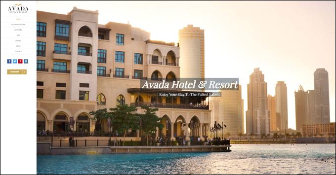 Avada Theme Demo - Hotel