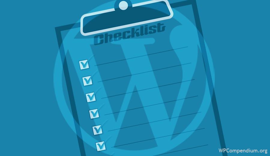 WordPress Checklists